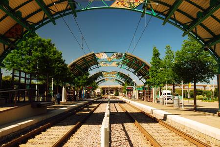 LBJ Central Station, on the Dallas DART Light Rail Train System