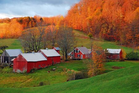 Foto per A rural Vermont scene in late fall - Immagine Royalty Free
