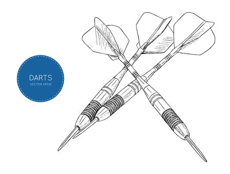 Arrow darts stylized drawing Vector Illustration