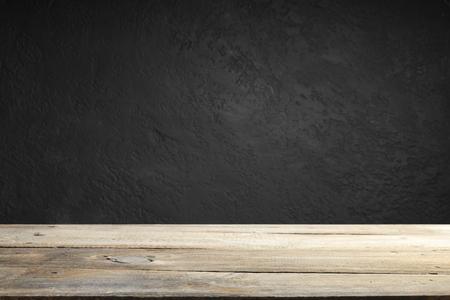Photo pour cement floor in dark room with spot light. black background. - image libre de droit