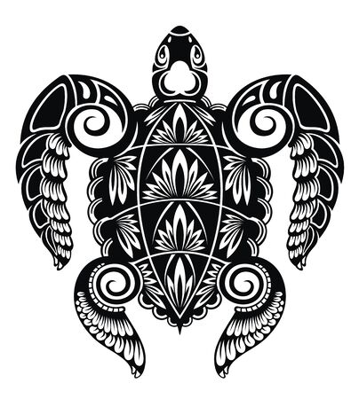 Illustration for Graphic sea turtle. Vector illustration of sea turtle - Royalty Free Image