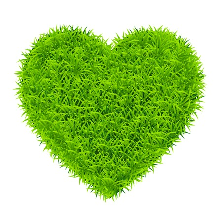 green grass heart