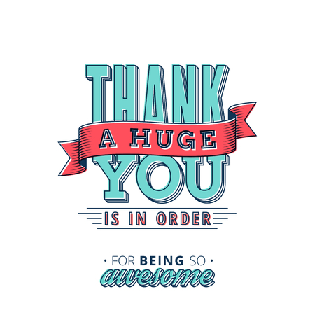 Illustration pour Lovely Thank You card design with a vintage touch to help you express your gratitude in style - image libre de droit