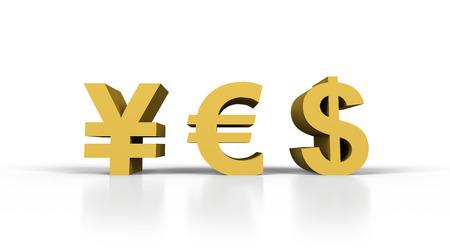 yes in form money symbol, 3d render