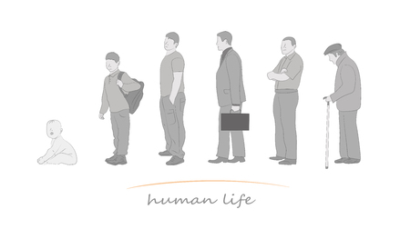 Human life at different ages vector illustration