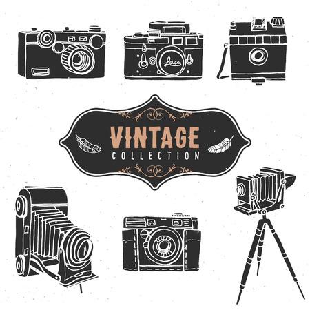 Foto de Vintage retro old camera collection. - Imagen libre de derechos