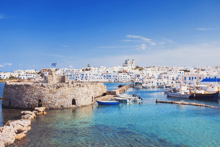 Picturesque Naousa village, Paros island, Cyclades, Greece
