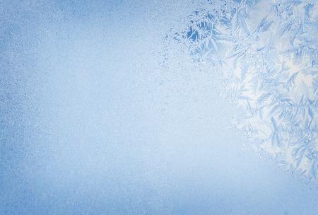 Photo pour Winter background, frost on window - image libre de droit