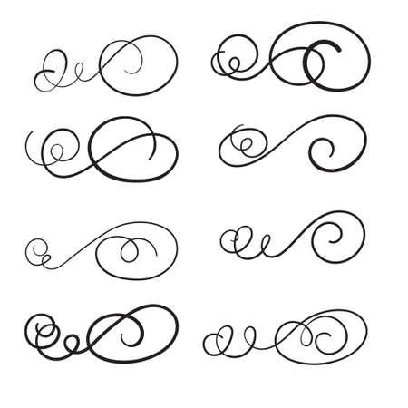 Illustration pour Hand draw swirl ornament decoration vector design - image libre de droit