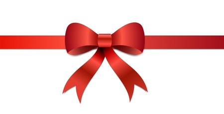 Big red Christmas bow illustration with gradients and opacity, Eps version 8.