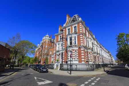 London, APR 17: Beautiful building around Holland Street on APR 17, 2016 at London