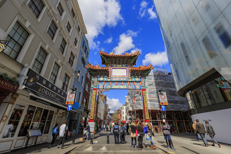 London, APR 17: The famous China Town on APR 17, 2016 at London
