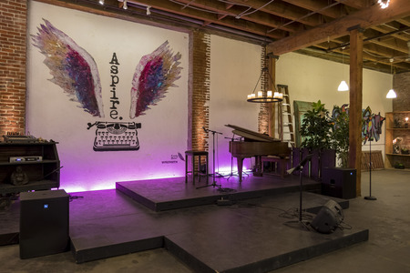 Los Angeles, JAN 16: The interior of the Art District CO-OP on JAN 16, 2017 at Los Angeles, California