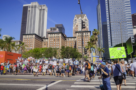 Los Angeles, APR 22: Special event - March for Science LA on APR 22, 2017 at Los Angeles, California