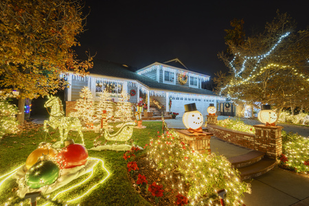 Photo for christmas decoration at Brea Neighborhood, Los Angels County, California - Royalty Free Image