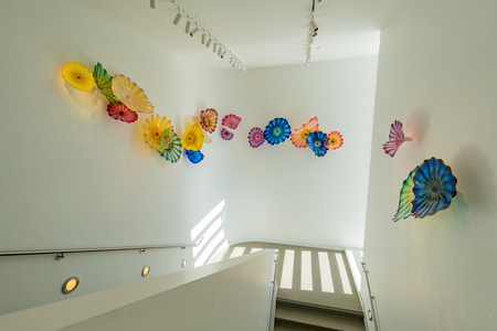 Sacramento, FEB 21: Interior view of the Crocker Art Museum on FEB 21, 2018 at Sacramento, California