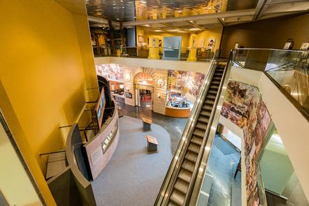 Sacramento, FEB 22: Interior view of Sacramento History Museum on FEB 22, 2018 at Sacramento, California