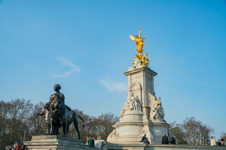 London, APR 14: The historical Victoria Memorial on APR 14, 2018 at London, United Kingdom