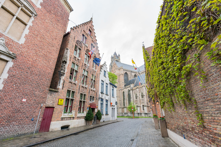 Brugge, APR 28: Beautiful street view of the city on APR 28, 2018 at Brugge, Beligum
