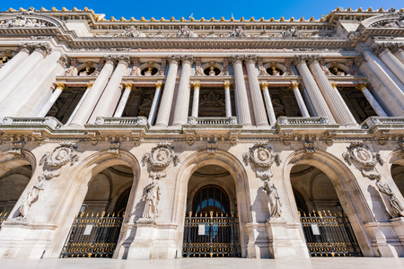 Exterior view of the Palais Garnier at Paris, France