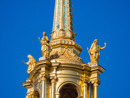 Close up shot of the Army Museum golden roof at Paris, France