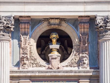 Statue of Palais Garnier at Paris, France