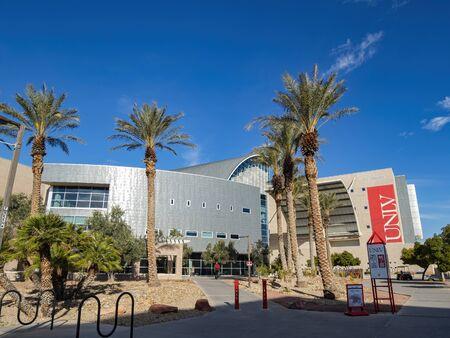 Las Vegas, FEB 12: Exterior view of the UNLV Lied Library on FEB 12, 2020 at Las Vegas, Nevada