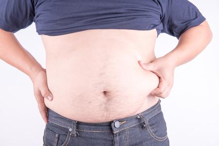 Photo pour Fat man with belly - image libre de droit