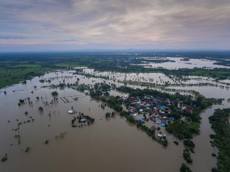 Photo for Water flood at Sakon Nakhon, Thailand - Royalty Free Image
