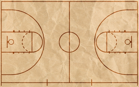 Basketball court with lines mural rf images murals your way for Basketball court mural