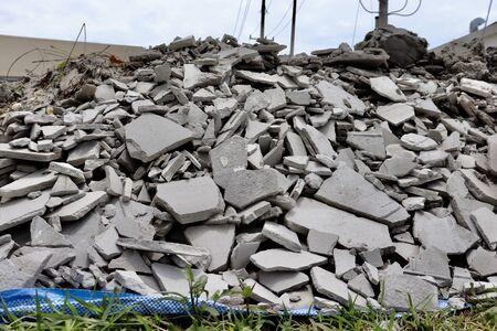 Photo pour Remnants of cement and waste from construction - image libre de droit