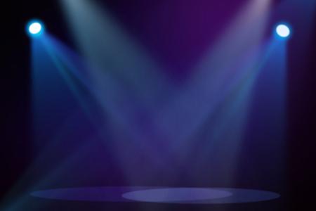 Purple  Blue stage background