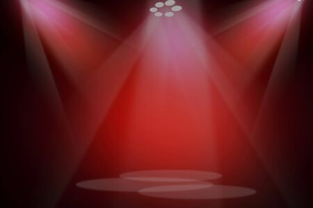 Photo pour The concert on stage background with flood lights - image libre de droit