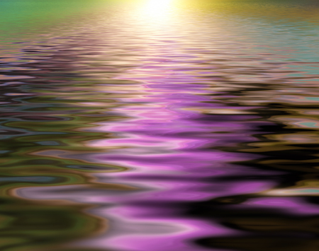 Foto de Abstract beautiful soft and blurred colorful surface of water rippled background and reflection - Imagen libre de derechos