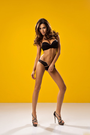 Photo pour Sexy unusual model with long legs - image libre de droit