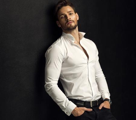 Photo pour Portrait of handsome man - image libre de droit