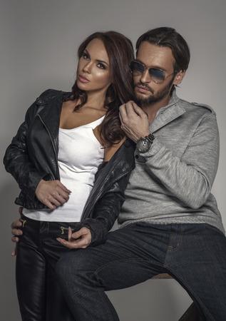 Foto de Fashion couple - Imagen libre de derechos