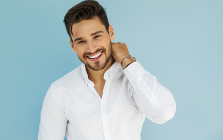 Photo for Portrait of sexy smiling male model - Royalty Free Image