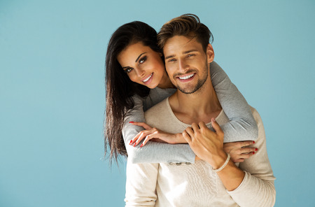 Photo for Portrait of smiling beautiful couple - Royalty Free Image