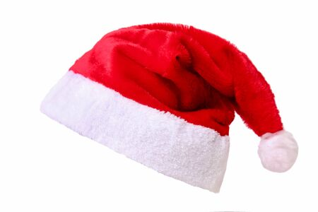 Photo pour Red Santa hat isolated on a white background. - image libre de droit