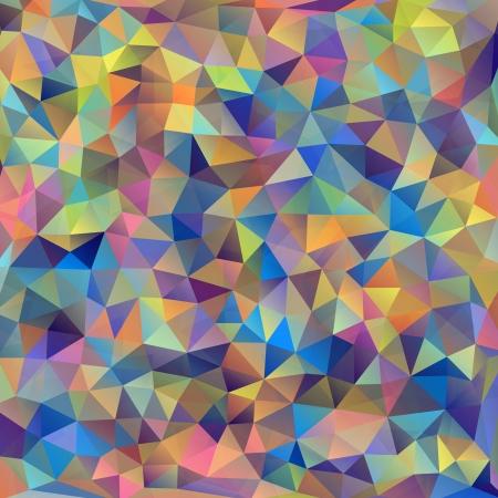 Foto de Vector illustration of abstract colorful triangles background - Imagen libre de derechos