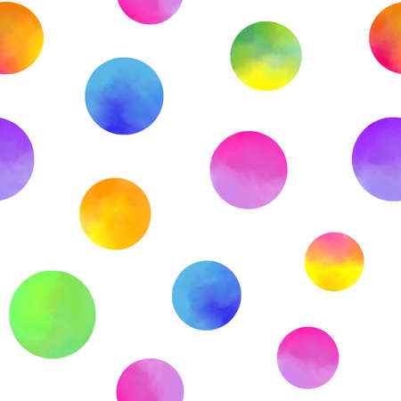 Illustration for pattern with watercolor circles - Royalty Free Image