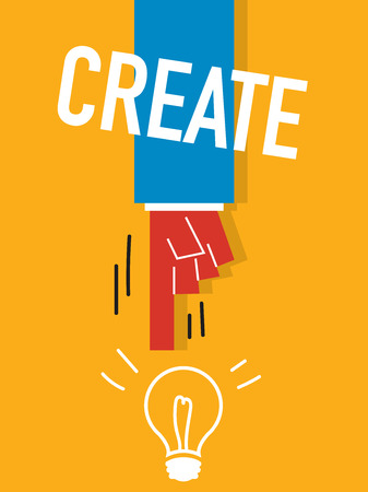 Word CREATE vector illustration