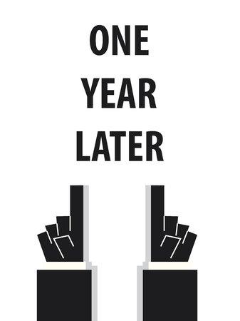 Illustration pour ONE YEAR LATER typography vector illustration - image libre de droit