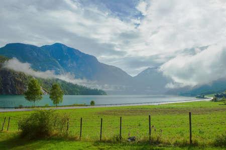 Photo pour Summer landscape in Stryn Norway - image libre de droit