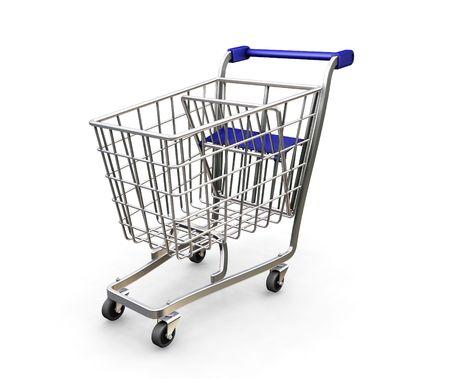 Shopping trolley - 3D render