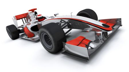 3d render of a formula one racing car