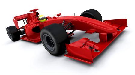 3d render of a formula one racing car