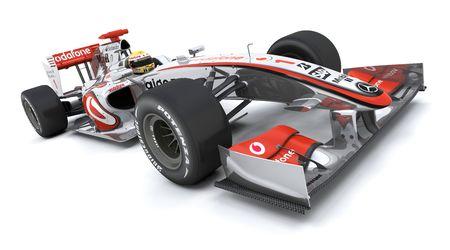 3D render of a Formula racing car