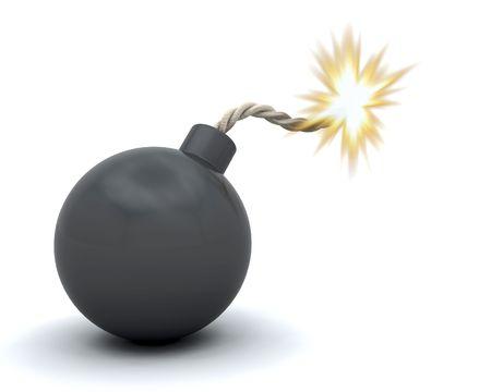 3D render of a comic bomb